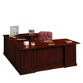Traditional U-Desk with Right Bridge, 10581
