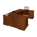 U Desk with Right Return, 10864