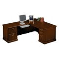 Traditional L-Desk with Left Return, 10962