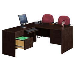 L-Desk with Left Return, 10965-1