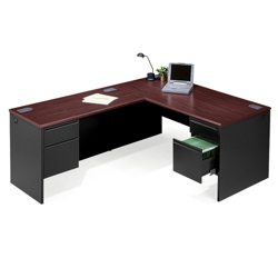 Steel L-Desk with Left Return, 11128
