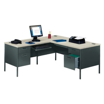 Steel L Desk With Left Return, 11244
