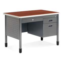 "42"" Compact Single Pedestal Desk, 11299"