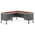 Perforated Metal L-Desk with Left Return, 11320