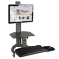 Adjustable Height Single Monitor Desktop Mount, 11329