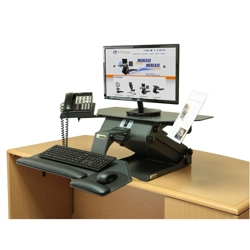 Adjustable Height Monitor Stand with Phone and Document Holders, 11331
