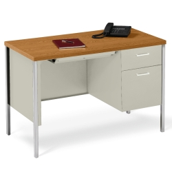 "45"" x 24"" Single Pedestal Steel Desk, 11943"
