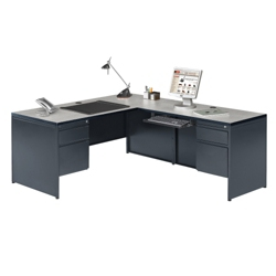 Steel L Desk with Right Return, 11249