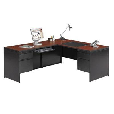 Steel L Desk With Left Return, 11250