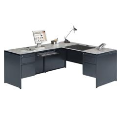 Steel L Desk With Left Return 11250