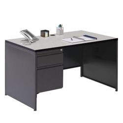 "48"" W Single Pedestal Desk, 12001"