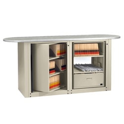 Letter Size Rotary File Work Center with Oval Top, 12003