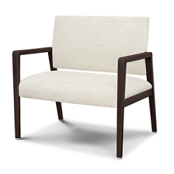 Vinyl Bariatric Guest Chair with Faux Wood Frame, 26537