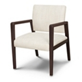 Vinyl Guest Chair with Faux Wood Frame, 26536