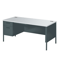"Left Pedestal Desk - 66""Wx30""D, 12035"