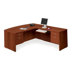 Bow Front L-Desk with Right Return, 13093