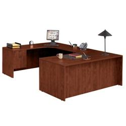 "U Desk with Left Bridge - 71"" x 118"", 14304"