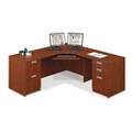 "Contemporary Compact Corner L-Desk - 71"" x 71"", 13336"