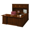 Barrington U-Desk with Left Bridge and Hutch, 13389