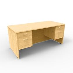 """Double Pedestal Computer Desk - 66""""W x 30""""D, 13653"""