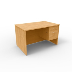 "Single Pedestal Compact Computer Desk - 48""W x 30""D, 13655"