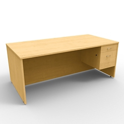 "Single Right Pedestal Executive Desk - 72""W x 36""D, 13659"