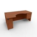 """Right Curved Corner Desk - 72""""W, 13663"""