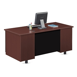 "Ascend Single Pedestal Computer Desk - 66""W, 13853"