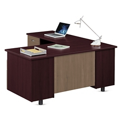 "Ascend L-Desk with Left Return - 66""W, 13867"