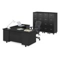 Ascend Right Return L-Desk and Vertical File Storage Wall, 13868