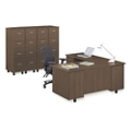 Ascend Left Return L-Desk and Vertical File Storage Wall, 13869