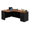 """Alloy Metal Left Hand J-Desk with File Pedestal - 72""""W, 13910"""