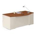 "Alloy Metal Bowfront Executive Desk - 72""W, 13913"