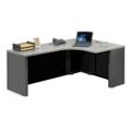 "Alloy Metal Right Hand J-Desk - 72""W, 13915"