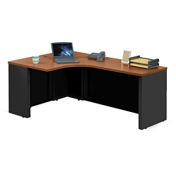 "Alloy Metal Left Hand J-Desk - 72""W, 13914"