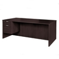 "Solutions Left Pedestal Desk with Three Quarter Pedestal - 71""W, 14005"