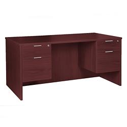 "Solutions Double Three-Quarter Pedestal Desk - 60"" x 30"", 14009"