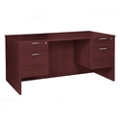 "Solutions Double Three-Quarter Pedestal Desk - 60"" x 30"", 14009"