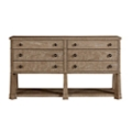"Six Drawer Media Console - 62""W, 31613"