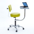 Vinyl Exam Stool with Backrest and Laptop Desk, 50042