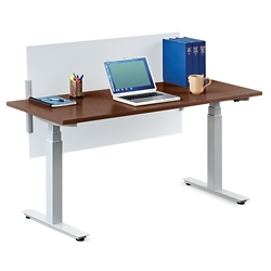 "Tabella Adjustable Height Table Desk with Privacy Screen - 60""W, 14165"