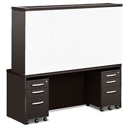Transcend Credenza with Conference Hutch and Mobile Pedestals, 14185