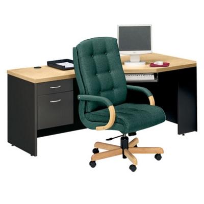 Left Pedestal Corner Desk, 15005