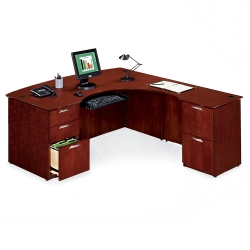 L-Desk with Right Lateral File Return, 15163