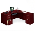 L-Desk with Right Multi-File Return, 15165