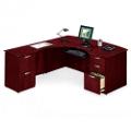 L-Desk with Right Multi-File Return, 15165