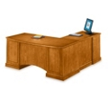 Executive Cherry L-Desk with Left Return, 15194