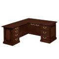 Traditional Executive L-Desk with Left Return, 15208