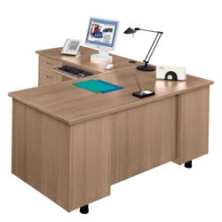 L-Desk with Left Return, 15251