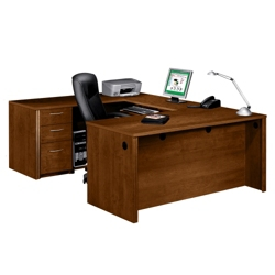 U Shaped Desk | Shop Wrap Around Desk with Desk Hutch | NBF.Com